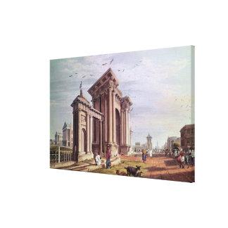 Calle del Palacio de Justicia, Calcutta Impresion De Lienzo