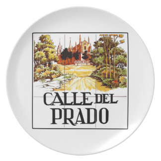 Calle del Prado, Madrid Street Sign Plate