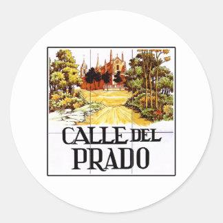 Calle del Prado, Madrid Street Sign Sticker