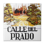 "Calle del Prado, Madrid Street Sign Tile<br><div class=""desc"">An original street sign from the capital of Spain,  Madrid. Check out our series of real street and road signs!</div>"