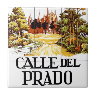 Calle del Prado, Madrid Street Sign Tile