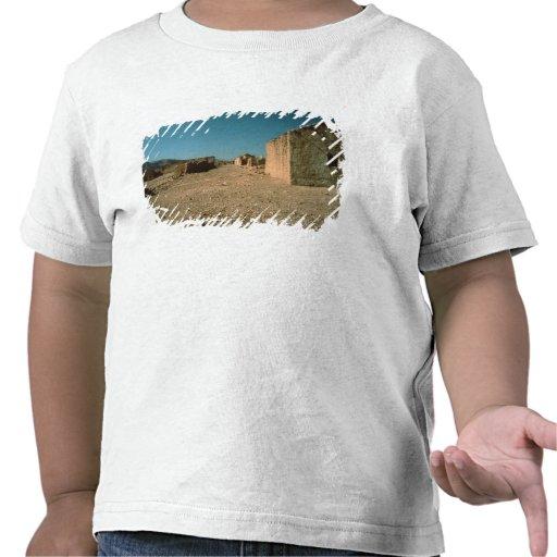 Calle del pueblo con las casas camiseta