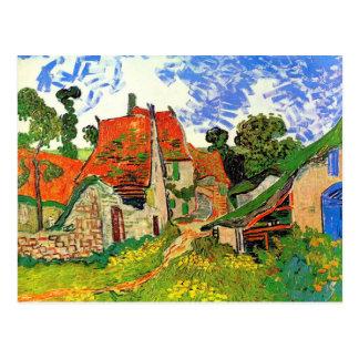 Calle del pueblo de Van Gogh en Auvers F802 Postal