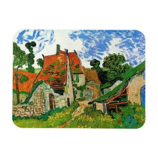 Calle del pueblo en Auvers, Vincent van Gogh Imanes Flexibles