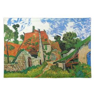 Calle del pueblo en Auvers, Vincent van Gogh Mantel Individual