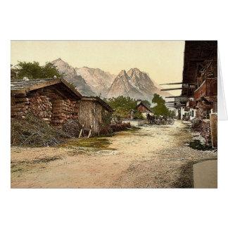 Calle del pueblo Garmisch Baviera superior Alem Tarjetas