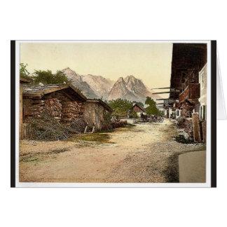 Calle del pueblo Garmisch Baviera superior Alem Felicitacion