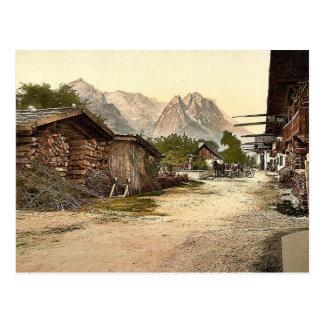 Calle del pueblo Garmisch Baviera superior Alem Postales