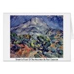 Calle delante de la montaña de Paul Cezanne Felicitación
