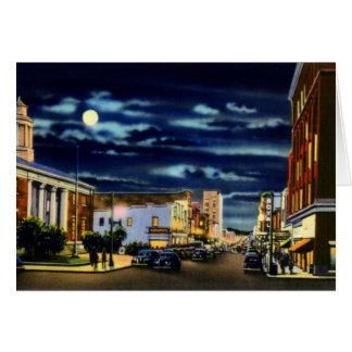 Calle delantera de Wilmington Carolina del Norte e Tarjeta De Felicitación