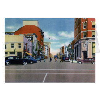 Calle delantera de Wilmington Carolina del Norte Tarjeta De Felicitación