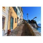 calle en Bogliasco, Liguria, Italia Postales