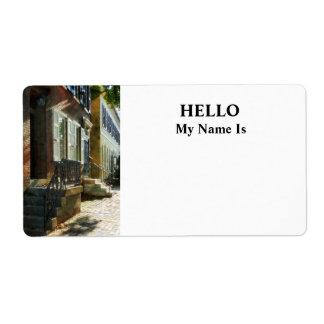 Calle en el nuevo castillo Delaware Etiqueta De Envío
