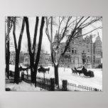 Calle en invierno, Montreal Notman de Sherbrooke - Póster