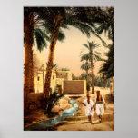Calle en la ciudad vieja Biskra Argelia Impresiones