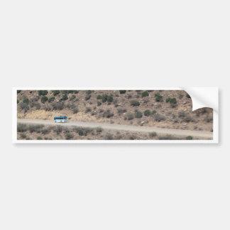 Calle en las montañas etíopes pegatina para auto