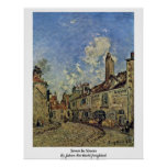 Calle en Nevers de Johan Barthold Jongkind Impresiones