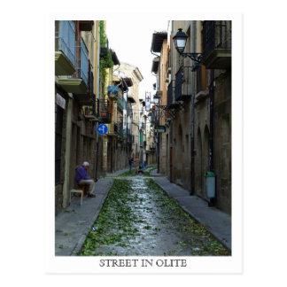 Calle en Olite Postales