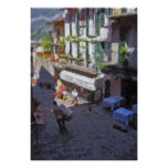 Calle en poster de Como de Bellagio, lago