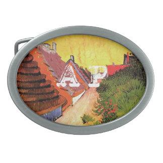 Calle en Saintes-Maries de Vincent van Gogh Hebilla Cinturón Oval