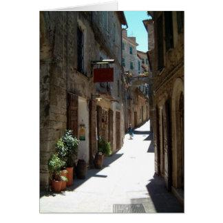 calle en Toscana Tarjeta