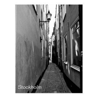 Calle estrecha en Estocolmo Tarjetas Postales