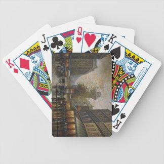 Calle fabulosa en la lluvia… baraja de cartas