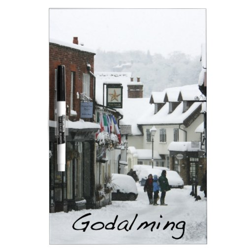 Calle Godalming de la iglesia Pizarra