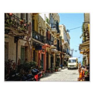 Calle griega impresiones fotograficas