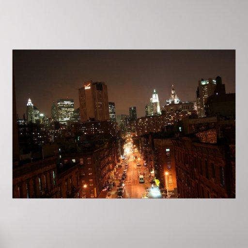 Calle II de Manhattan Poster