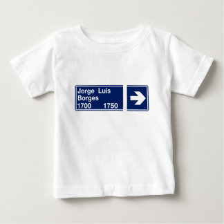 Calle Jorge Luis Borges, Buenos Aires Street Sign Baby T-Shirt