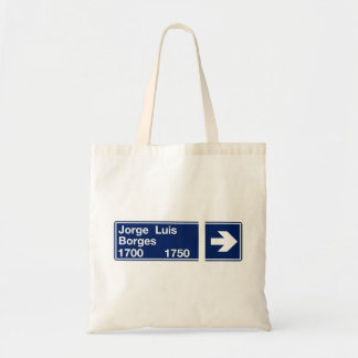 Calle Jorge Luis Borges, Buenos Aires Street Sign Tote Bag