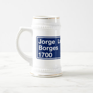 Calle Jorge Luis Borges, Buenos Aires Street Sign Mugs