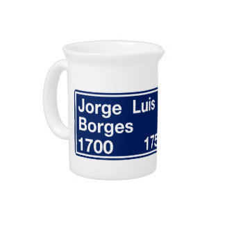 Calle Jorge Luis Borges, Buenos Aires Street Sign Drink Pitcher
