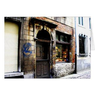 Calle lateral de Bruselas Tarjeta De Felicitación