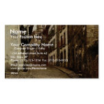 Calle Mayor, Fuenterrab&iacutea, Spain vintage Pho Double-Sided Standard Business Cards (Pack Of 100)