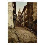 Calle Mayor, Fuenterrab&iacutea, Spain vintage Pho Greeting Card