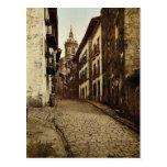 Calle Mayor, Fuenterrab&iacutea, Spain vintage Pho Postcard