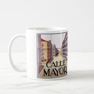 Calle Mayor, Madrid Street Sign Coffee Mug
