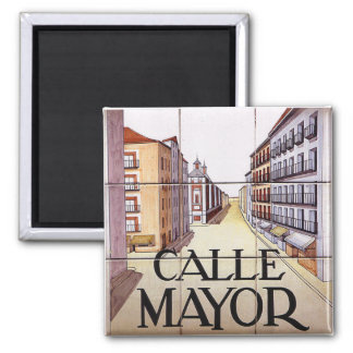 Calle Mayor, Madrid Street Sign Magnet