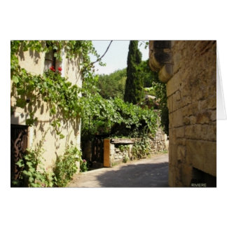 Calle medieval en Quercy Tarjeta De Felicitación