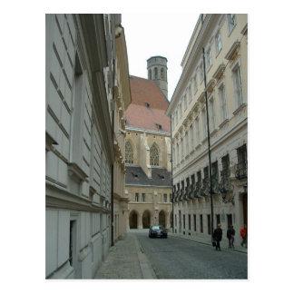 Calle medieval tarjeta postal