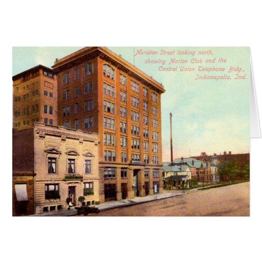 Calle meridiana de Indianapolis, Indiana en Nueva  Felicitación