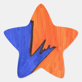 Calle moderna calcomanías forma de estrella
