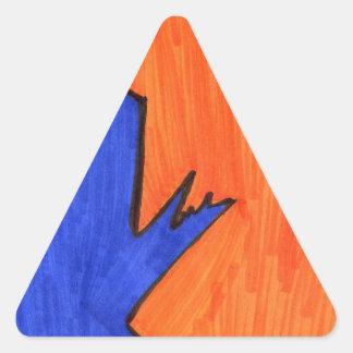 Calle moderna pegatina triangular