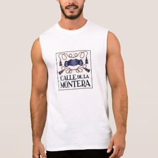 Calle Montera, placa de calle de Madrid Camisetas Sin Mangas