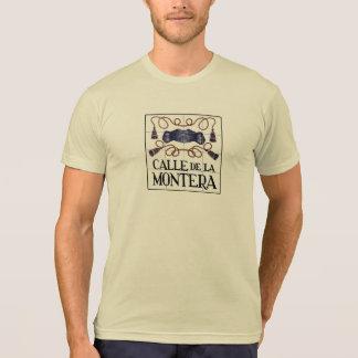 Calle Montera, placa de calle de Madrid Camiseta