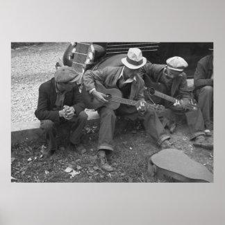 Calle Musicians, 1935 de Tennessee Póster