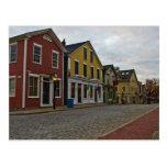 Calle New Bedford del agua Tarjeta Postal