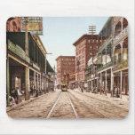 Calle New Orleans 1900 de St Charles Alfombrillas De Raton